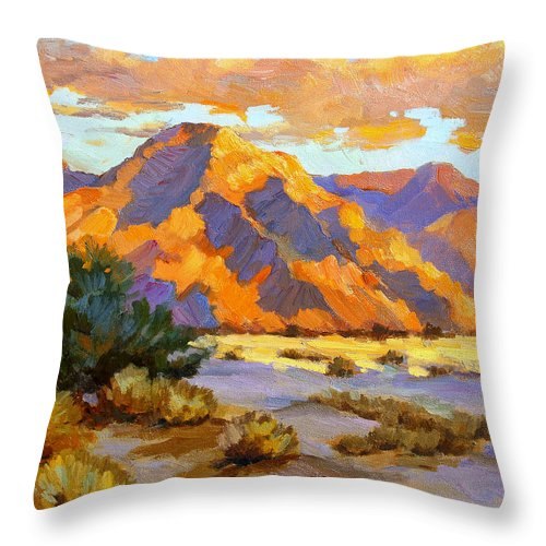 Desert Sunset Throw Pillow For Sale By Diane Mcclary