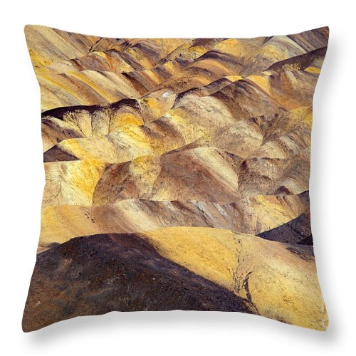 Zabriskie Point Throw Pillow featuring the photograph Desert Undulations by Mike Dawson