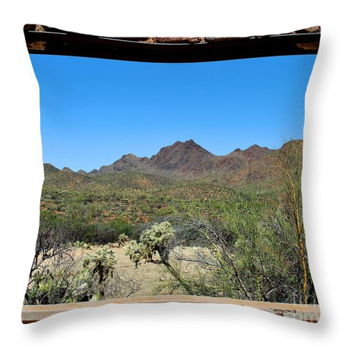 Tucson Throw Pillow featuring the photograph Desert Window by Jemmy Archer