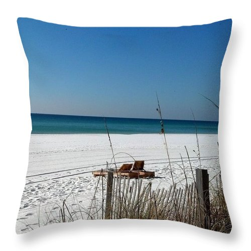 Beach Throw Pillow featuring the photograph Deserted Beach by Mike Niday
