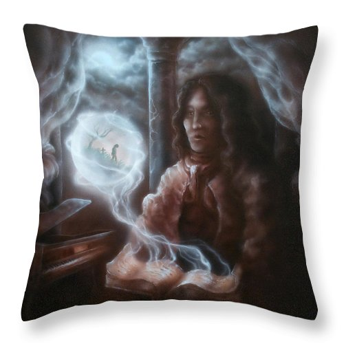 Painting Throw Pillow featuring the painting Design For Mikhail by Troy Wilfong