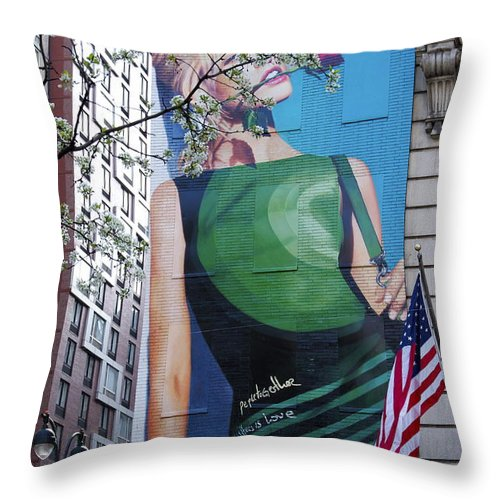Desigual Throw Pillow featuring the photograph Desigual by Alice Gipson