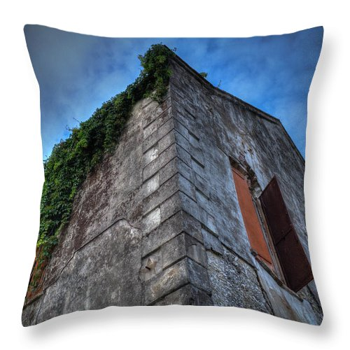 Warehouse Throw Pillow featuring the photograph Desolation In Darien by Sean Camp