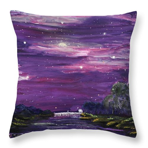 Searching For The Meaning Of Life Throw Pillow featuring the painting Destination by Regina Wirsich Roberts