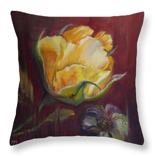Rose Throw Pillow featuring the painting Destiny by Mary Beglau Wykes