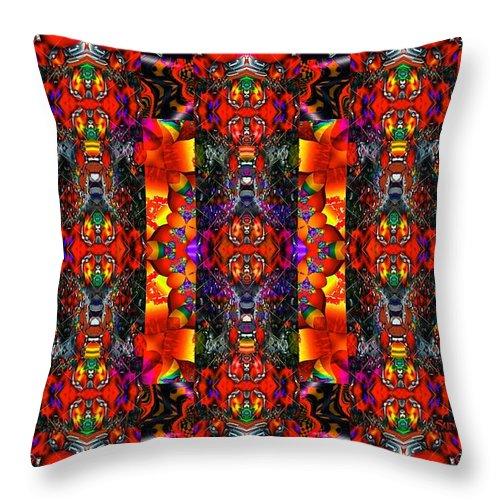 Red Throw Pillow featuring the digital art Destiny by Robert Orinski