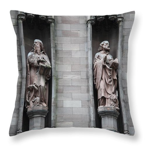 Cathedral Throw Pillow featuring the photograph Detail First Trinity Church by Christiane Schulze Art And Photography