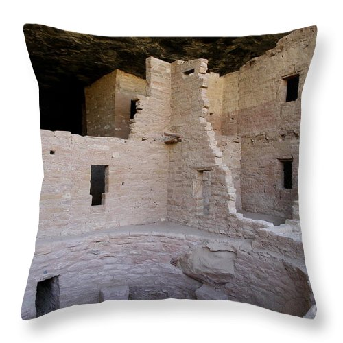 Spruce Tree House Throw Pillow featuring the photograph Detail Spruce Tree House by Christiane Schulze Art And Photography