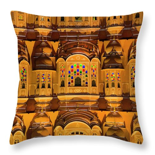 Royalty Throw Pillow featuring the photograph Detail View Of Palace by Grant Faint