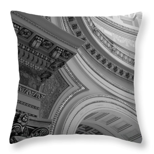 Architecture Throw Pillow featuring the photograph Details by Lauri Novak