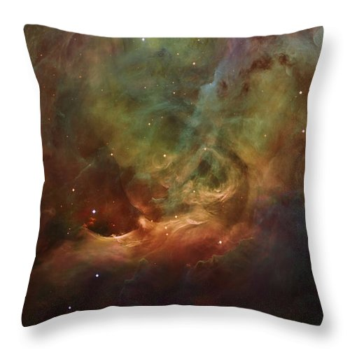 Orion Nebula Throw Pillow featuring the digital art Details Of Orion Nebula by Marianna Mills