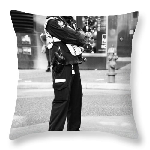 Vancouver Throw Pillow featuring the photograph Detective Calm by The Artist Project