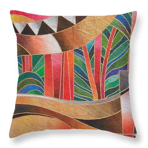 Fiji Islands Throw Pillow featuring the painting Deuba Sunset by Maria Rova
