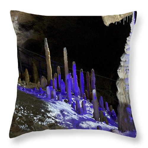 Heiko Throw Pillow featuring the photograph Devils's Cave 6 by Heiko Koehrer-Wagner