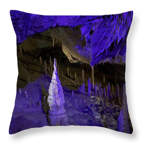 Heiko Throw Pillow featuring the photograph Devils's Cave 7 by Heiko Koehrer-Wagner