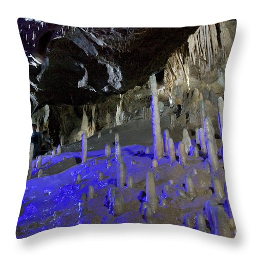 Heiko Throw Pillow featuring the photograph Devils's Cave 8 by Heiko Koehrer-Wagner