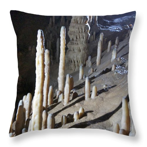 Heiko Throw Pillow featuring the photograph Devils's Cave 9 by Heiko Koehrer-Wagner