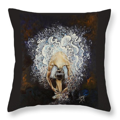 Dance Throw Pillow featuring the painting Devotion by Karina Llergo