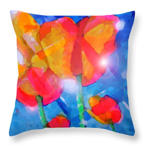 Impressionism Throw Pillow featuring the painting Diamonds by Marcello Cicchini