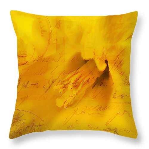 Daffodils Throw Pillow featuring the photograph Diary Of A Buttercup Nbr 4 by Lesa Fine