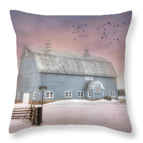New York Throw Pillow featuring the photograph Dickey Hill Farm by Lori Deiter