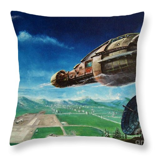 Landscape Throw Pillow featuring the painting Did You Call by Murphy Elliott