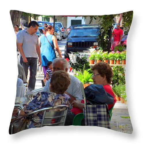 Talking Throw Pillow featuring the photograph Did You Say You Went On Vacation? by Tina M Wenger