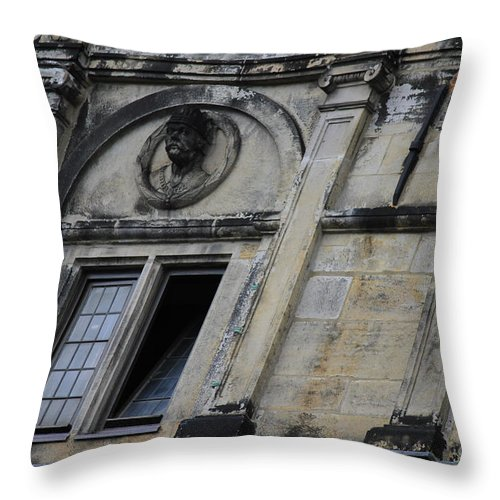 House Throw Pillow featuring the photograph Different View Of The House by Four Hands Art