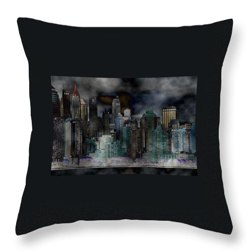Cityscape Throw Pillow featuring the photograph Differentiate New York City by Beverly Webster