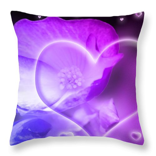 Abstract Throw Pillow featuring the photograph Digital-art Sensuality I by Melanie Viola