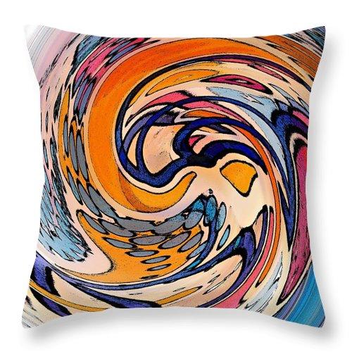 Dunkin Donuts Throw Pillow featuring the digital art Digital Dunkin by Sarah Loft