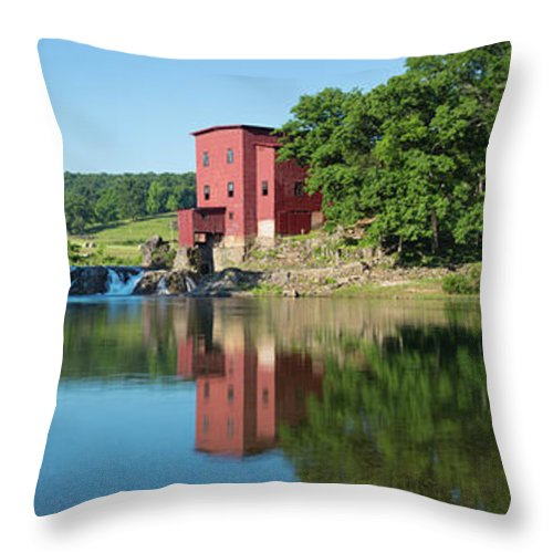 Photography Throw Pillow featuring the photograph Dillard Mill At Dillard Mill State by Panoramic Images