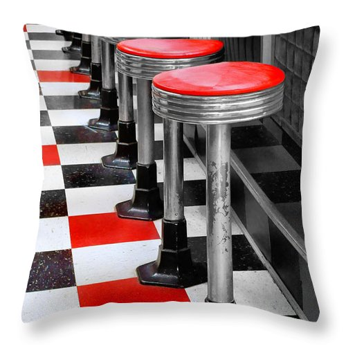 Diners Throw Pillow featuring the photograph Diner #2 by Nikolyn McDonald