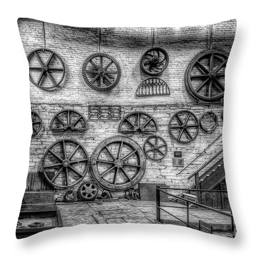 Dinorwig Quarry Throw Pillow featuring the photograph Dinorwig Quarry Workshop V2 by Adrian Evans