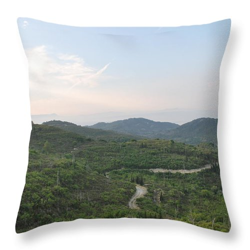 Landscape Throw Pillow featuring the photograph Dirt Roads 3 by George Katechis