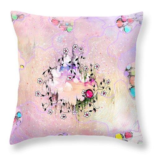 Disability Throw Pillow featuring the digital art Disability by Rachel Christine Nowicki