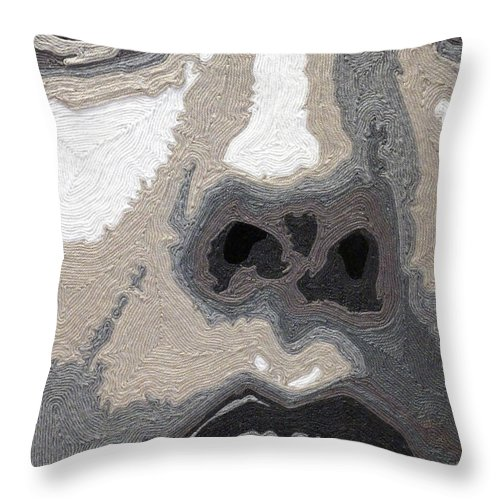 Disbelief Throw Pillow featuring the mixed media Disbelief by Courtney Kenny Porto