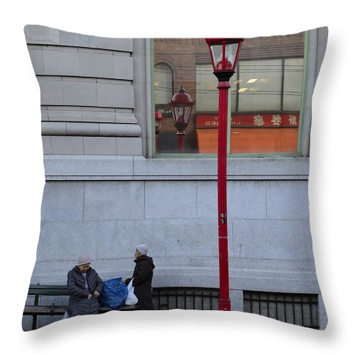 Vancouver Throw Pillow featuring the photograph Discuss Our Bus by The Artist Project