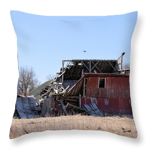 Disintegration Throw Pillow featuring the photograph Disintegration by Bonfire Photography
