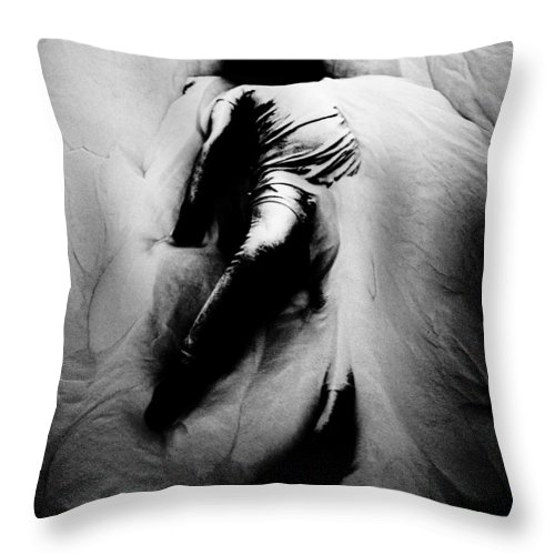 Black Throw Pillow featuring the photograph Disintegration by Jessica Shelton