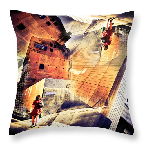 Abstract Throw Pillow featuring the photograph Disoriented by Wayne Sherriff