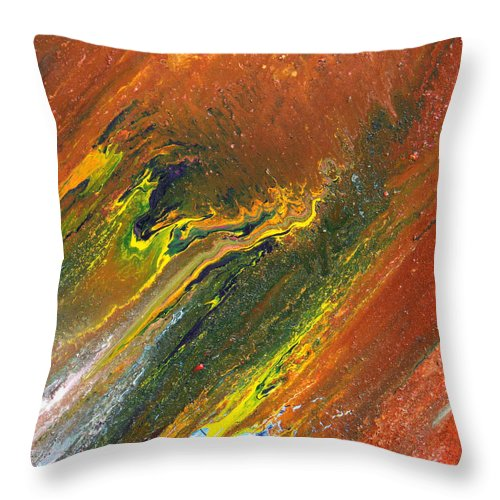 Fusionart Throw Pillow featuring the painting Distance by Ralph White