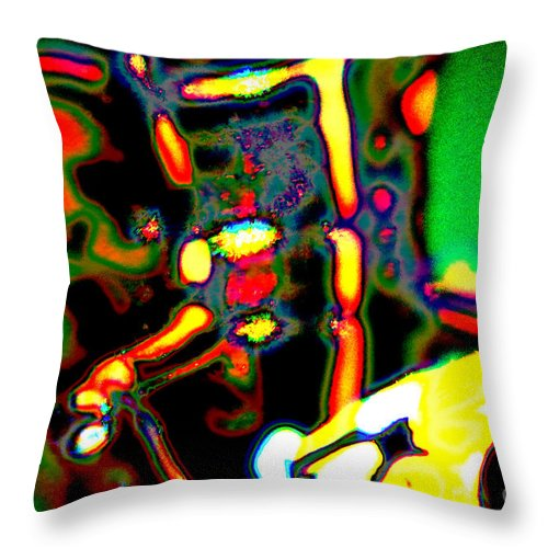 Distraction Throw Pillow featuring the photograph Distractions by Kim Pate