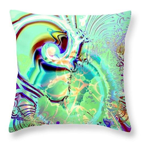 Malakhova Throw Pillow featuring the digital art Disturbance by Anastasiya Malakhova