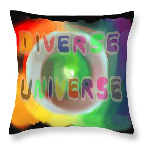 Diverse Throw Pillow featuring the painting Diverse Universe by Pharris Art