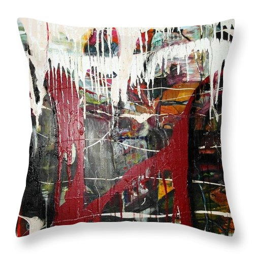 Non-objective Throw Pillow featuring the photograph Diversity by Peggy Blood