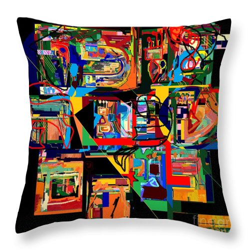 Torah Throw Pillow featuring the digital art Divinely Blessed Marital Harmony 23 by David Baruch Wolk