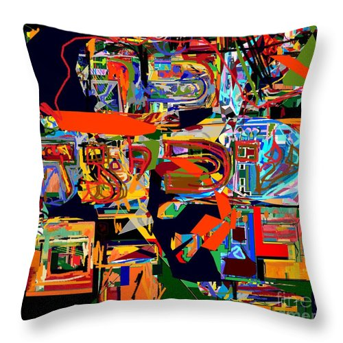 Torah Throw Pillow featuring the digital art Divinely Blessed Marital Harmony 24 by David Baruch Wolk