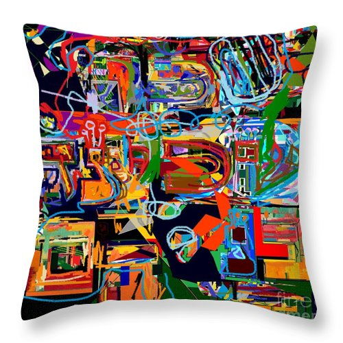 Torah Throw Pillow featuring the digital art Divinely Blessed Marital Harmony 25 by David Baruch Wolk