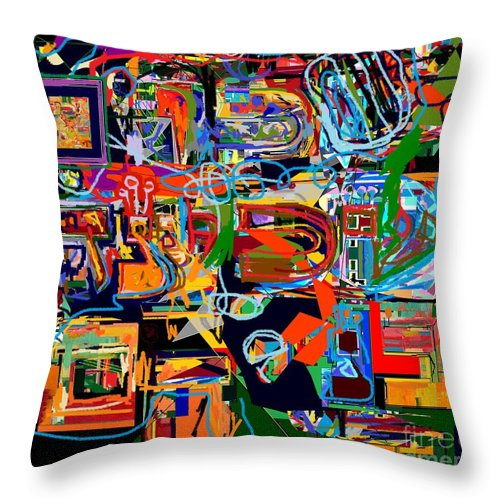 Torah Throw Pillow featuring the digital art Divinely Blessed Marital Harmony 26 by David Baruch Wolk